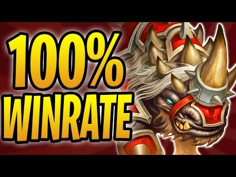 RUSHING THROUGH LADDER w/ 100% WIN RATE! | Rush Warrior | Rastakhan's Rumble | Hearthstone