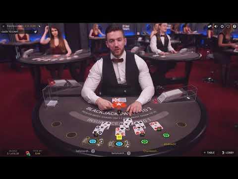 Жесткая и долгая игра в БлэкДжек с дилером на ПокерСтарс!PokerStars Live Drealer BlackJack