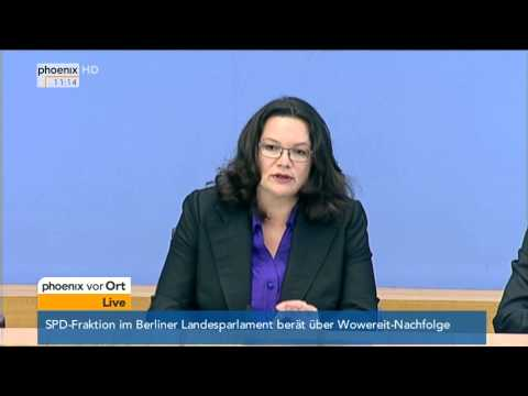 Armutsmigration: Thomas de Maizière & Andrea Nahles zu Sozialmissbrauch am 27.08.2014