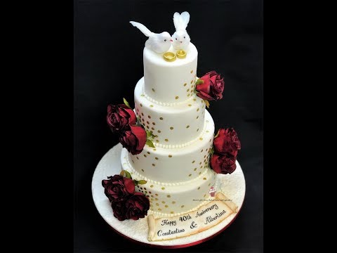 40th-wedding-anniversary-cake-|-4-tier-cake