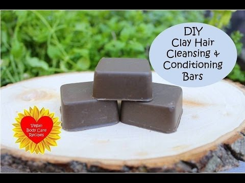 DIY Clay Hair Cleansing & Conditioning Bars