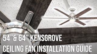 """54"""" and 64"""" Kensgrove Ceiling Fan Installation Guide"""
