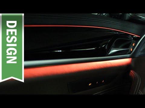 Ambiente Beleuchtung Im 5er BMW (2018): Zweifarbiges Ambientes Licht Im Cockpit