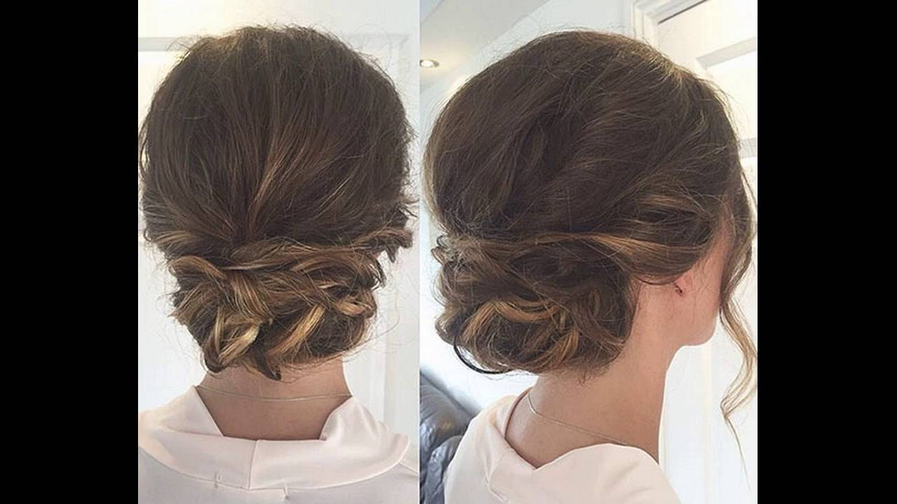 low bun hair style casual twisted low bun hairstyle gives graceful look steps 4178
