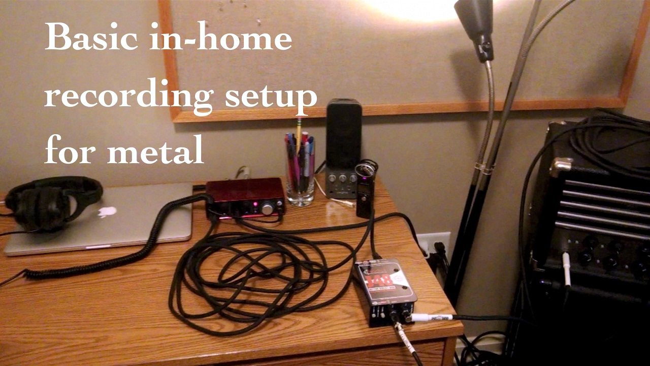 [Vlog #7] In-home Recording Setup for Metal | Cheap, minimalist home  recording gear