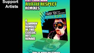 Nivek Tek Feat.Carol Hahn-A Little Respect (SuperSoundZ Inc! Radio Mix)