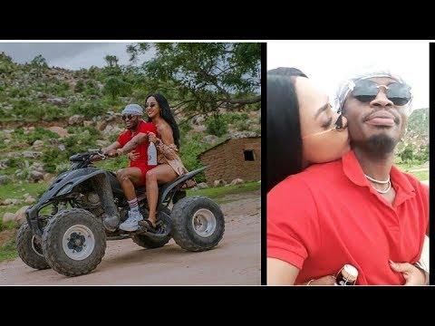DIAMOND Na TANASHA Wapanda Bodaboda Mwanza/Mahaba Kama Yote Uzungu Mwingi