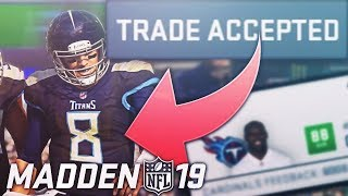 Tennessee Titans TRADE Marcus Mariota!! Madden NFL 19 Franchise Series