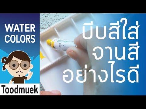 นายตูดหมึก สอนวาดรูป สีน้ำ ep 2 / นายตูดหมึกใช้สีอะไรบ้าง / บีบสีใส่จานสีอย่างไรดี