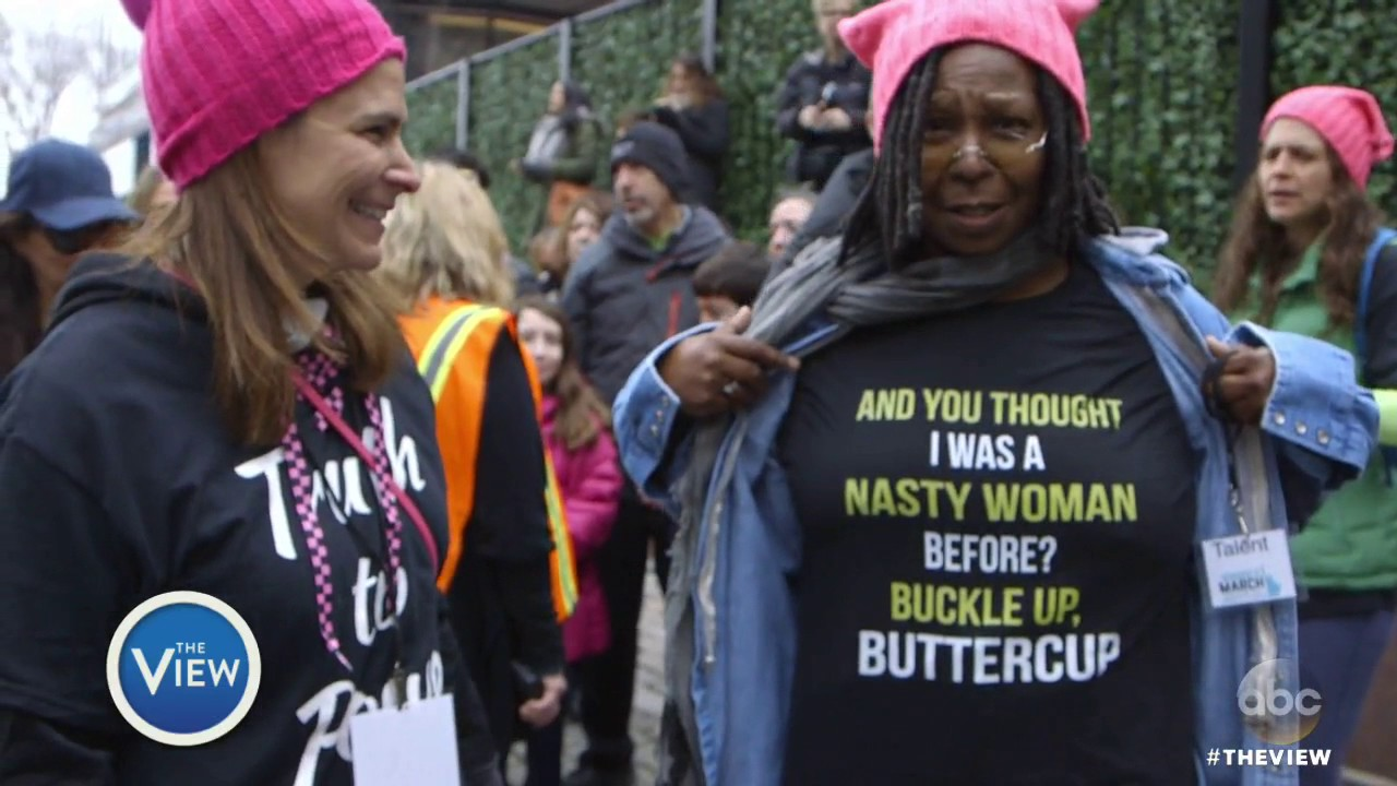 Donald Trump shirt on Whoopi Goldberg is doctored