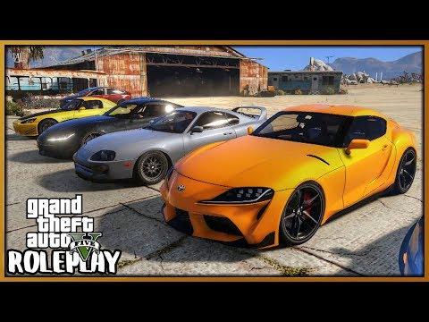 GTA 5 Roleplay - Drag Race 'NEW' Supra Vs 'OLD' Supra | RedlineRP #665