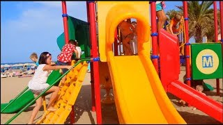 Playground Fun Play Place with Slides Kids Ride on Scooter Vlog