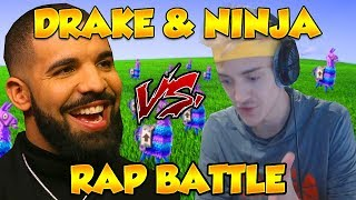 DRAKE & NINJA RAP BATTLE ON FORTNITE! (God's Plan?) - Fortnite Funny Fails and WTF Moments!