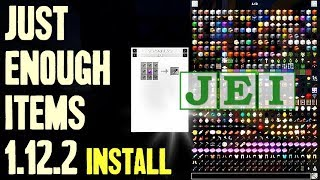 JUST ENOUGH ITEMS MOD 1.12.2 minecraft - how to download and install JEI 1.12.2 (with forge)