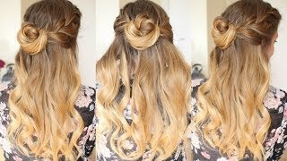 Quick and Easy Half Up Bun Hairstyle | Formal Hairstyles | Braidsandstyles12