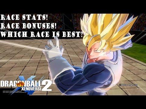 Dragon Ball Xenoverse 2 Racial Stats and Bonuses