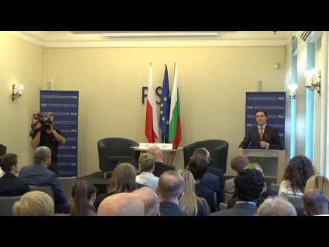 Public lecture by Daniel Mitov, Minister of Foreign Affairs of the Republic of Bulgaria 07/06/2016