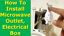 DIY: How to Install a Microwave Oven Electrical Outlet Box In Cabinet