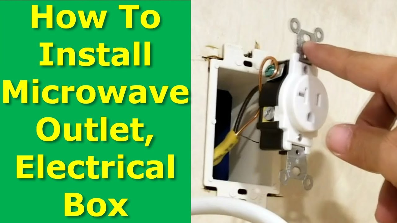 diy how to install microwave oven electrical outlet box in cabinet [ 1280 x 720 Pixel ]
