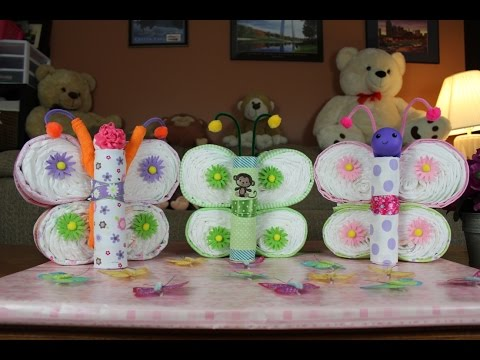 Butterfly Diaper Cake How To Make