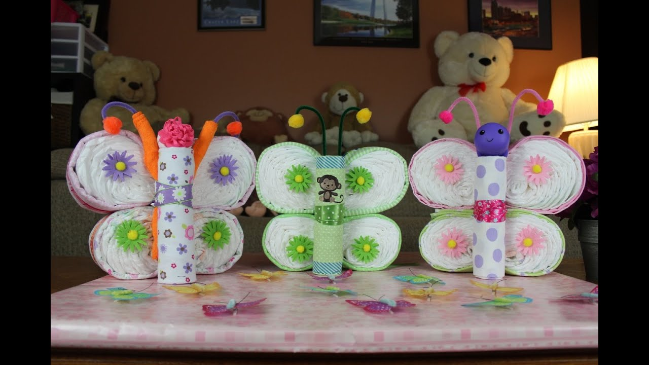 Butterfly Diaper Cake How To Make Youtube