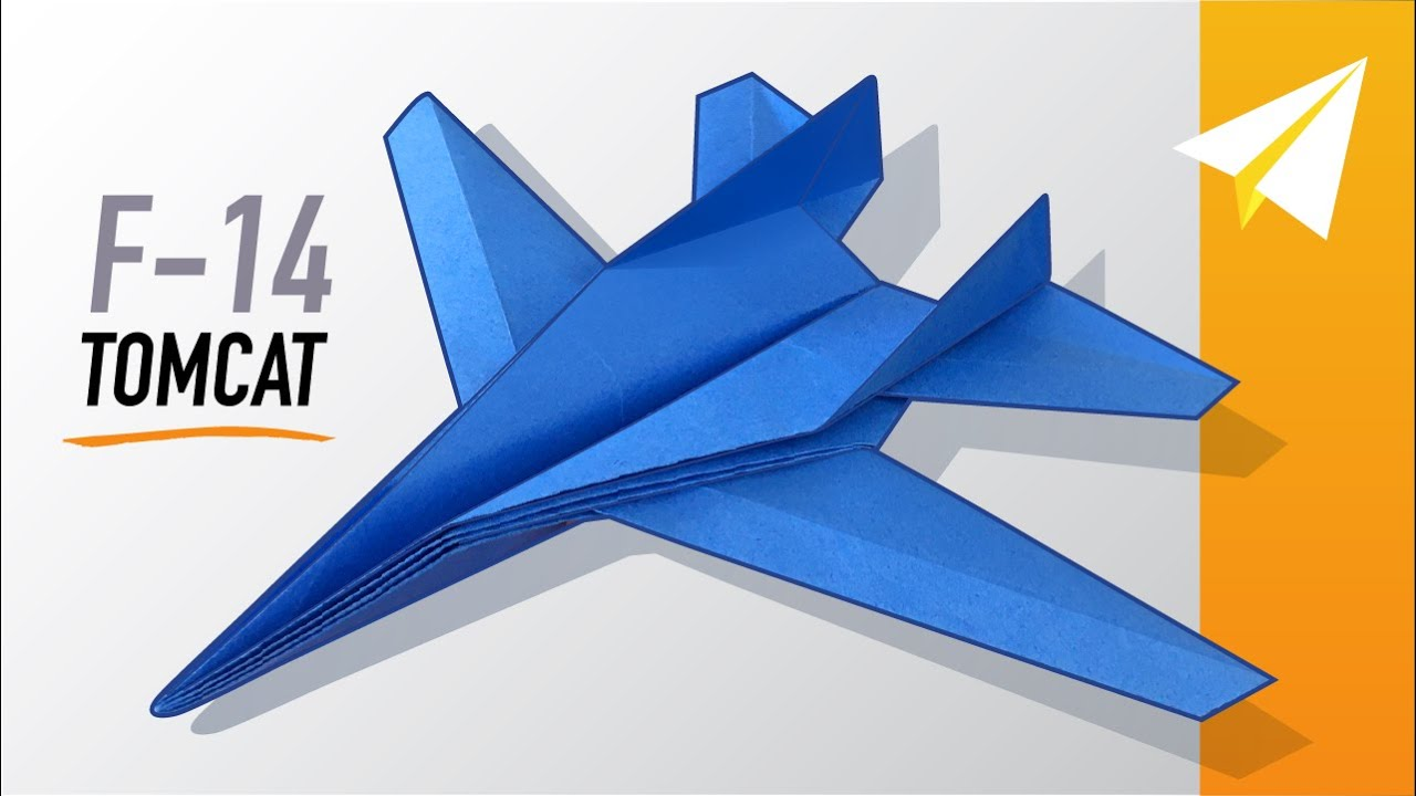 Epic Jet Paper Airplane REALLY Flies! How to Make F-14 Tomcat, by Origami Master, Michael LaFosse