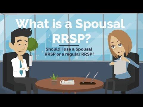 WHAT IS A SPOUSAL RRSP?  RRSP Vs Spousal RRSP Explained.
