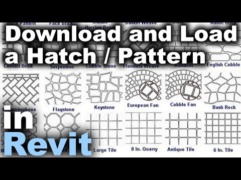 How to Load a Hatch / Pattern in Revit Tutorial - YouTube