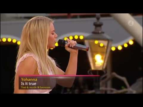"""Yohanna - """"Is It True"""" at Sommarkrysset TV show in Sweden 01/08/09 - upscaled to HD"""