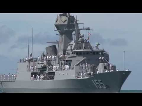 HMAS Ballarat Arrives At Joint Base Pear Harbor-Hickam