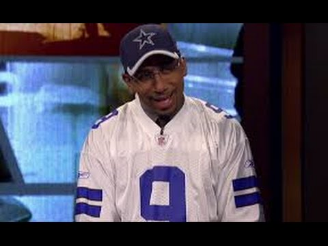 the best attitude 18241 ff875 Stephen A. Smith Wears A Tony Romo Jersey On 'First Take'