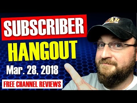 CF LIVE!   SUBSCRIBER HANGOUT   FREE LIVE CHANNEL REVIEWS   Q&A