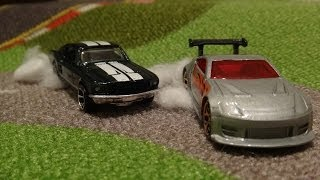 The Fast and Furious Tokyo Drift Race - '67 Ford Mustang vs Nissan 350Z - Hot Wheels Tokyo Drift