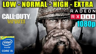 Call Of Duty WWII | RX560 4GB + Core i5-2400 | All Settings | 1080p