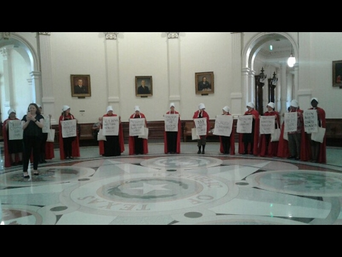 Women in Texas protest anti-abortion bills