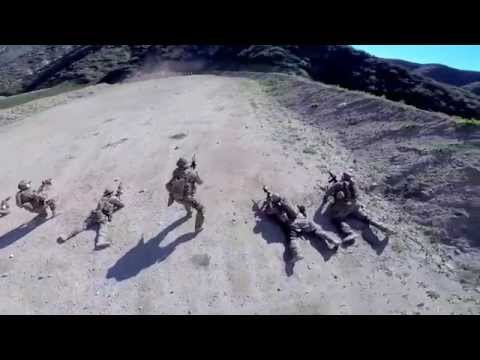Aerial Drone Footage of Military Combat Practice Rifle Drills