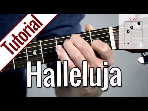 Leonard Cohen/Jeff Buckley - Hallelujah | Gitarren Tutorial Deutsch