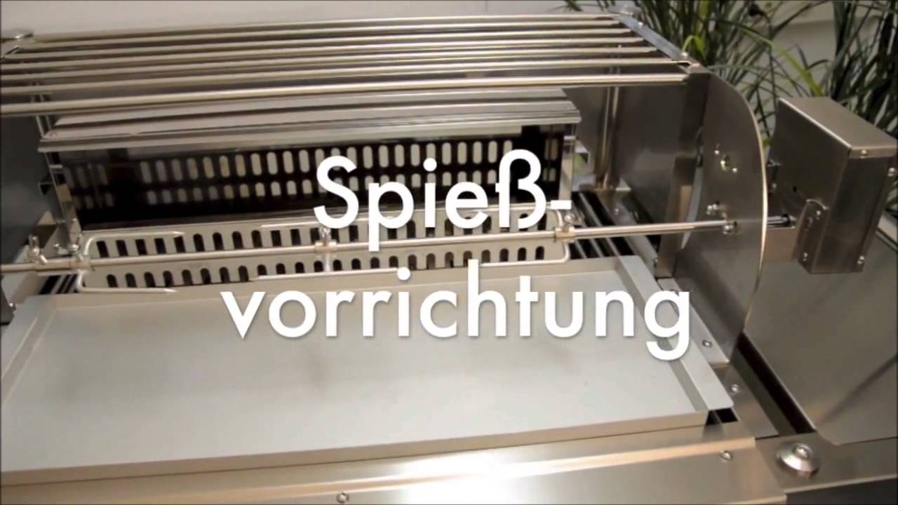 holzkohle grill f r gastronomie und gewerbe aus edelstahl profistar made in germany youtube. Black Bedroom Furniture Sets. Home Design Ideas