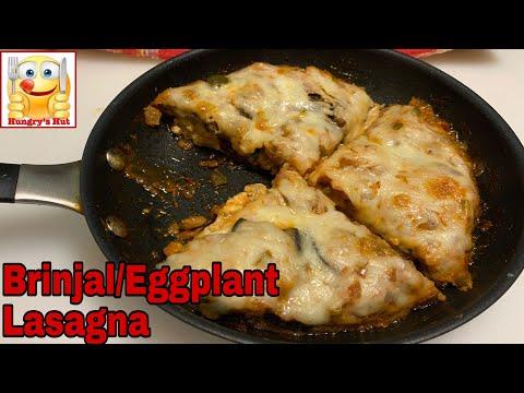 Brinjal/Eggplant Lasagna/Veg lasagna in fry pan /Baingan recipe/lasagna recipe without oven