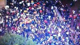Occupy Wall St. March on Police Plaza Aerial View
