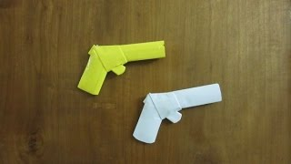 How to Make a Paper Gun that Shoots Rubber Bands (with Trigger) - Easy Tutorials