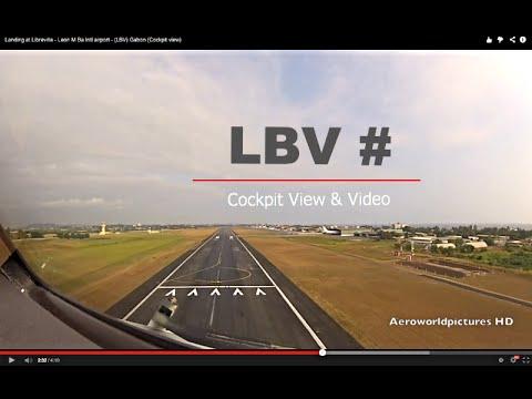 Landing at Libreville - Leon M'ba Intl airport - (LBV) Gabon (Cockpit view)