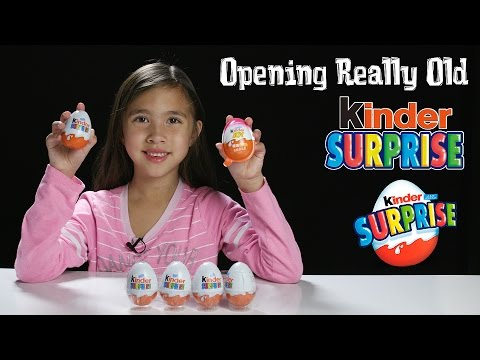 Opening More Really Old KINDER EGGS with Jillian! Surprise Eggs in 4K!