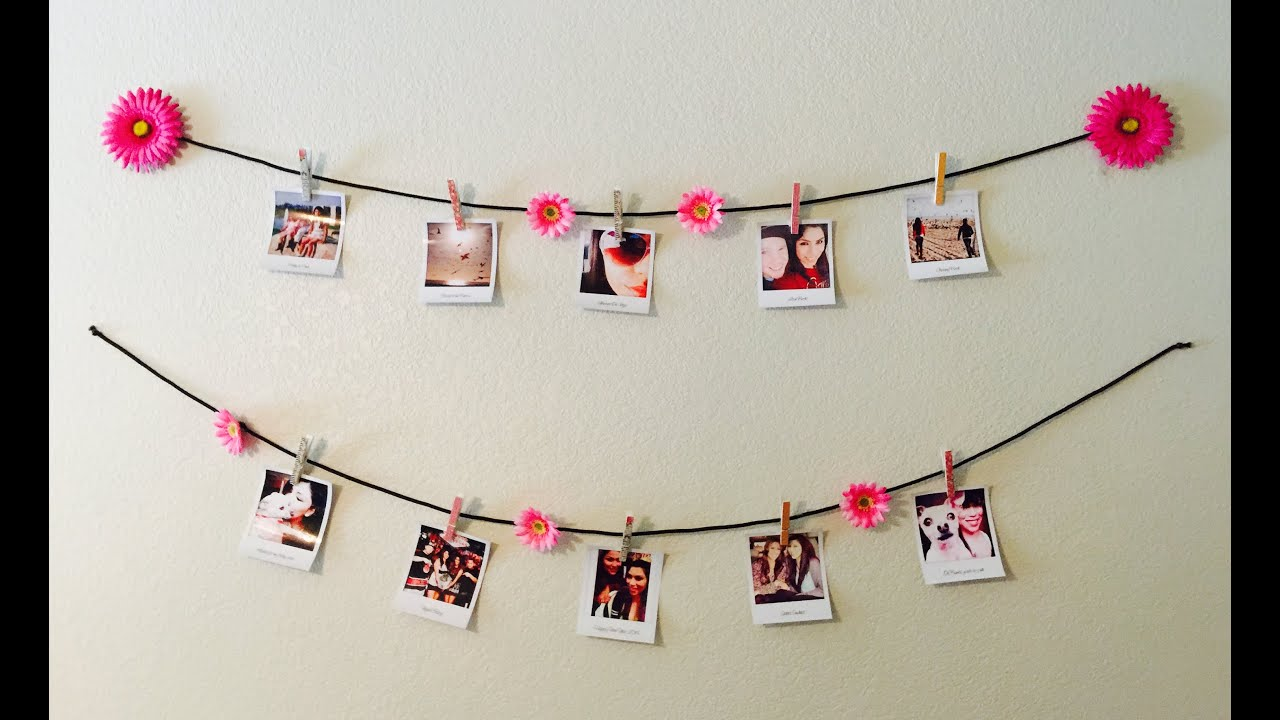 diy room decor polaroid wall youtube