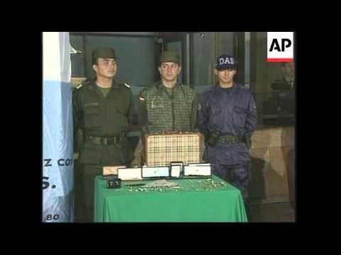 COLOMBIA: ALLEGED DRUG CARTEL LEADER MURCIA ARRESTED