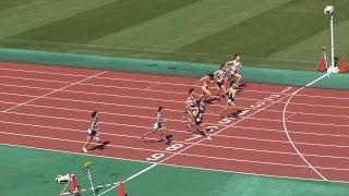 2015年8月8日(土) 東北中学校陸上競技大会 女子3年100メートル決勝 1位 ...