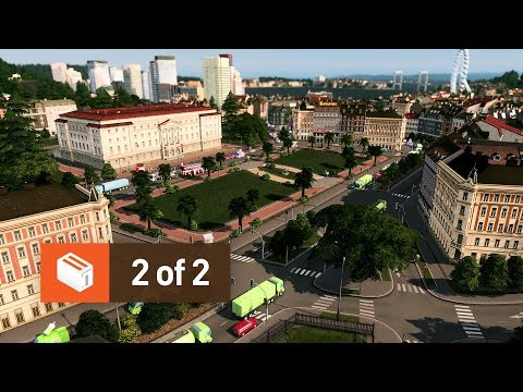 Detailing a 99% Vanilla City (2 of 2) — Cities Skylines: Parklife