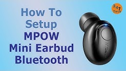 Mpow Mini Earbud Bluetooth headphone pairing and setup