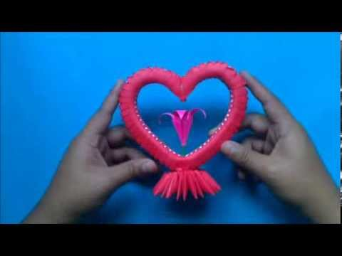 Origami 3D Corazon YouTube