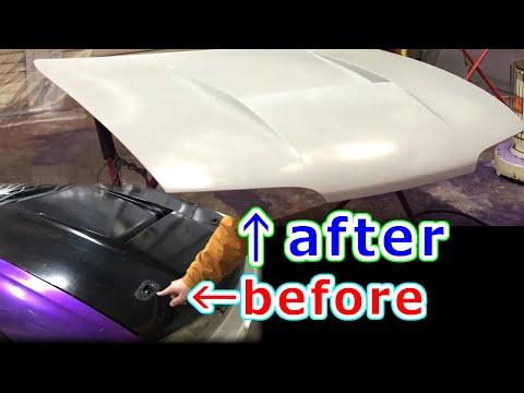 [DIY]FRP加工でボンネットに空いてる穴をスムージング!